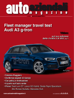 Fleet manager travel test Audi A3 g-tron
