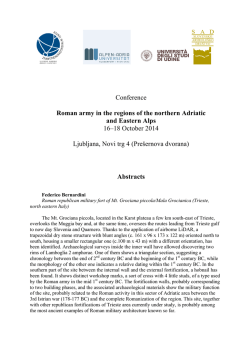 Conference Roman army in the regions of the northern Adriatic and