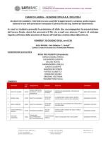 ESAMI DI LAUREA – SESSIONE ESTIVA A.A. 2013/2014 In caso lo