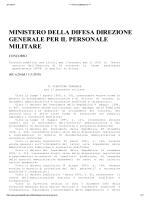 ministero della difesa direzione generale per il