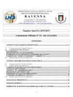 C.U. N. 23... - FIGC Ravenna