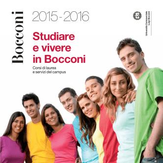 Brochure Studiare e vivere in Bocconi