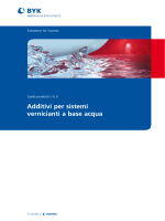 Brochure tecnica per sistemi a base acqua