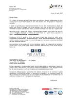 Comunicazione fusione FIS e Antex