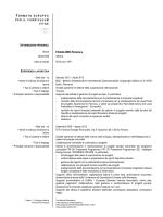 Curriculum dei selezionati