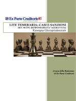 LITE TEMERARIA: CASI E SANZIONI ART. 96 CPC
