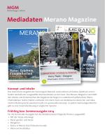 Mediadaten Merano Magazine
