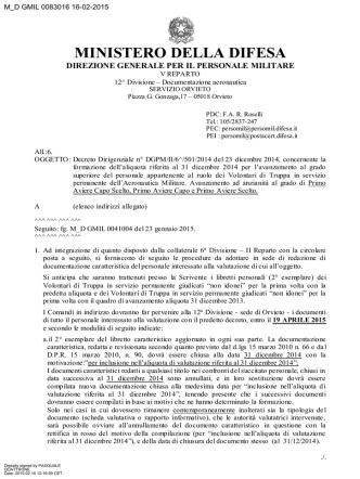 aliq. 2014 - Circolare n. M_D GMIL 0083016 del 16.02.2015