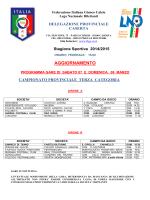 AGGIORN. PROGR. GARE DEL 07-08 marzo 2015 - FIGC