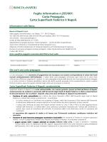 Foglio informativo n.255/001. Carta Prepagata. Carta Superflash