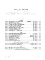 Preisliste September 2014/2015
