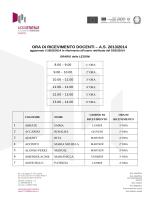 Schema ricevimento docenti - Liceo Statale Alessandro Manzoni