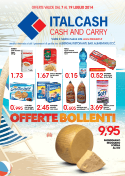 9,95 OFFERTEBOLLENTI - Italcash – Cash and Carry