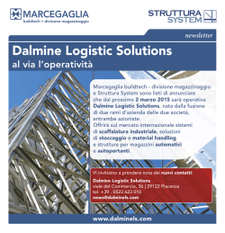 Nasce Dalmine Logistic Solutions