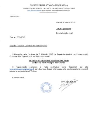 Convocazione iscritti per elezioni CPO