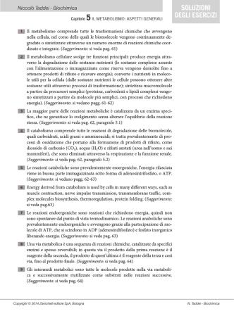 Capitolo 5 – Alcoli, eteri, polialcoli e tioli