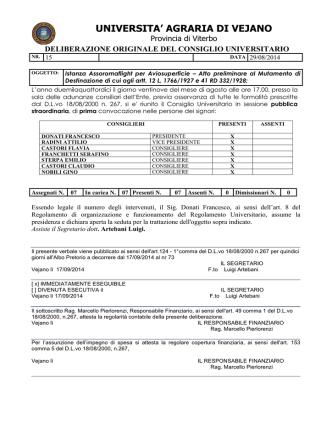 DC 15 AVIOSUPERFICIE - Università Agraria Vejano