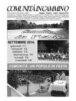 COMUNITÀ IN CAMMINO - Parrocchia di Rubiera
