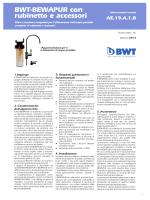 BWT-BEWAPUR con rubinetto e accessori