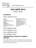 CISLazio2014 - Comitato Regionale Lazio FSI