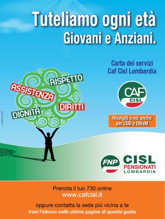 Carta dei servizi Caf Cisl Lombardia - FNP