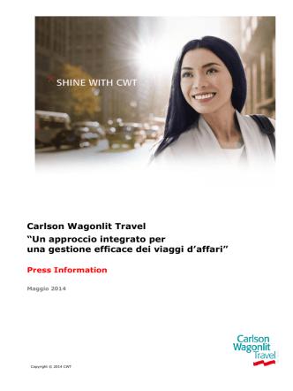 cartella-stampa-2014 - Carlson Wagonlit Travel