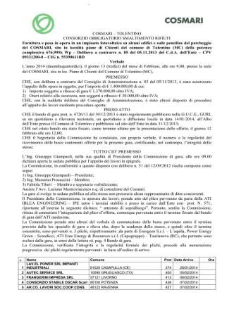 2014-02-13 gara fotovoltaco aggiudicazione provvisoria
