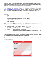 Il servizio Desio WEB Remote Banking è disponibile anche nella