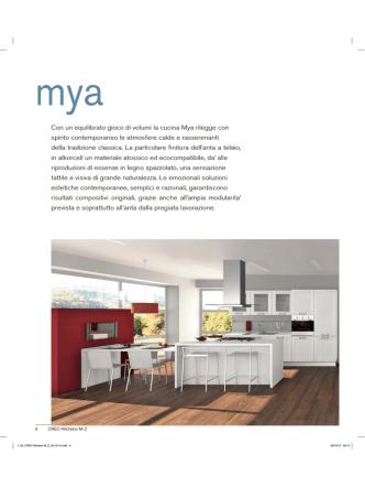 Con un equilibrato gioco di volumi la cucina Mya