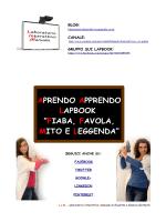 """SCHEDA TECNICA LAPBOOK """"FIABA…"""" con template vuoti"""