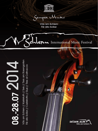 concert program - Schlern International Music Festival