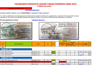 Calendario 2015 - Genova di corsa