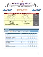 Comunicato ufficiale 16 - 20 gennaio 2015_SACCA
