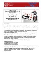 1° RIUNIONE DEL MOTOSTUDENT