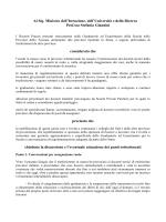 il documento da presentare al ministro giannini