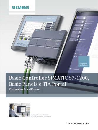 Basic Controller SIMATIC S7-1200, Basic Panels e TIA