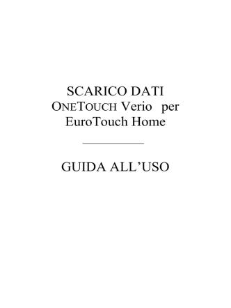 Carta intestata - LifeScan OneTouch