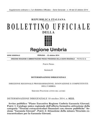 BUR Umbria - Serie generale - n. 49