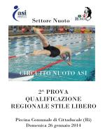 Settore Nuoto CIRCUITO NUOTO ASI 2^ PROVA