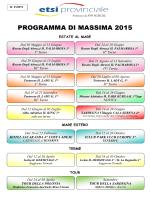 Volantino Programma 2015 - SGB