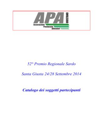 Catalogo - APA Oristano