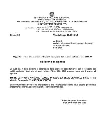 Circ_533 prove accertamento debito sessione di agosto1.doc