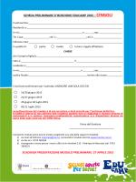 Modulo iscrizione preliminare Educamp 2015 CINGOLI