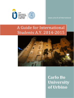 A Guide for International Students A.Y. 2014-2015