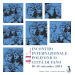 opuscolo di sala - Incontro Internazionale Polifonico