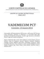 VADEMECUM PCT - Distretto della Corte di Appello di Catania
