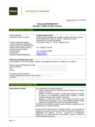 Bonifici e SEPA Credit Transfer Aziende