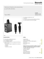 Valvola limitatrice di pressione, a controllo diretto Tipo DBD