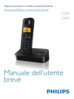 D210/215 Italian short user manual