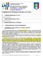 Comunicato categoria Giovanissimi Provinciali e Esordienti 11vs11